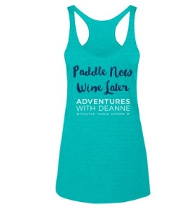 Paddle Now, Wine Later Ladies Tank S/M/L/XL $25